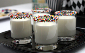 настроения, молоко, питье, полезное, цветное, драже, яркий, стакан