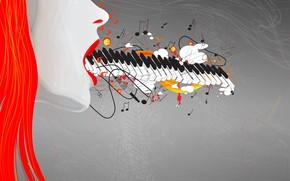 Music, Figure, girl