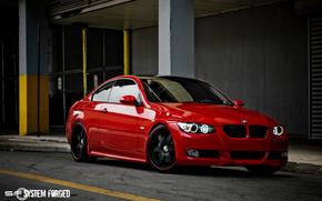 BMW, e90, Rosso