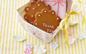 cookies, thank you, basket