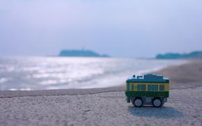brinquedo, mar, gua, superfcie lisa, costa, horizonte, esplendor, sol, vero, borro, andar, macro