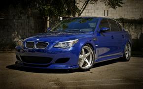 BMW, blu, muro, recinto, BMW