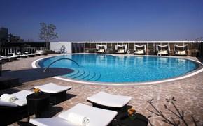 интерьер, дизайн, стиль, бассейн, ступени, отдых, курорт