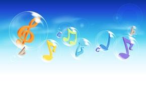 background, sky, clouds, Soap, Bubbles, music, Flat, Violin, key
