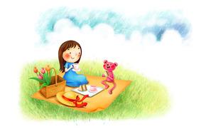 picnic, fiori, Bruin