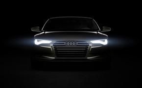 Audi, sportback, black