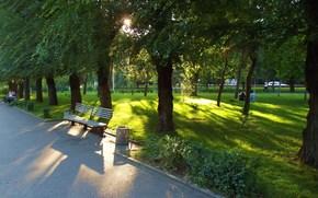 Volgograd, terrapieno, parco, paesaggi