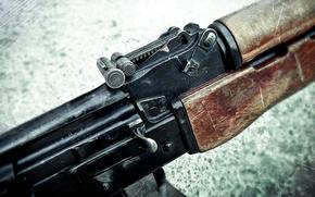 оружие, макро, ручной, пулемет, калашникова, рпк, магазин, затвор, прицел