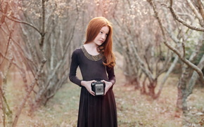 girl, portrait, Cameras, beauty