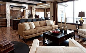 интерьер, дизайн, стиль, комната, диван, подушки, вазы, книги