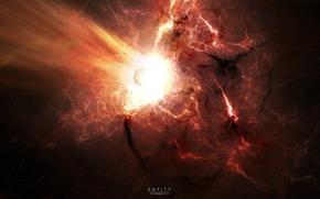explosion, flash, katstrofa, Star, hot gas