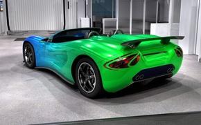 машина, зеленый цвет, Суперкары