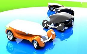 Car, Rendering, Hi-Tech