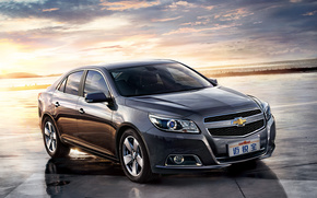 Chevrolet, Malibu, ZTL, berlina, tramonto, auto, macchinario, Auto