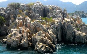 Козий остров, Турция, камни, море