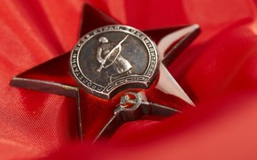 Victory Day, award, red, star