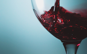 goblet, wine, Blue