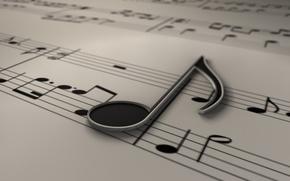 Score, music, key