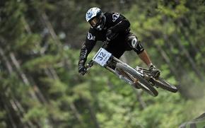 自行车, 骑自行车, 下坡, 飞行