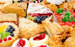 Sweets, cakes, jam
