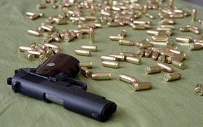 pistola, cartucce, arma
