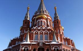 Cathedral, architecture, city, Izhevsk, St. Michael's.
