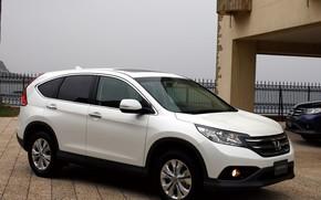 Honda, CR-V, mquina, SUV, Coche, Japn, Color blanco, Papel pintado, Honda