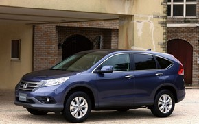 Honda, CR-V, Japan, Car, Vnedorozhnk, blue, home, wallpaper, honda