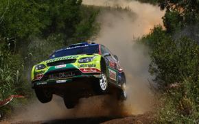 ралли, прыжок, пыль, португалия, Ford