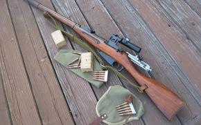 Mosin fucile, trehlineyka, versione cecchino