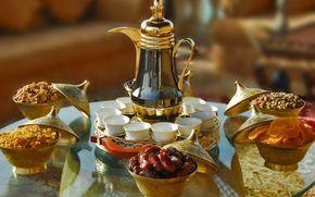 сервировка, чайник, чашки