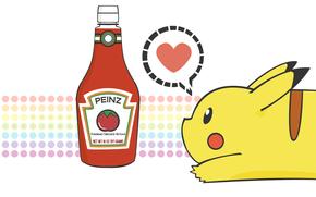 покемон, пикачу, кетчуп