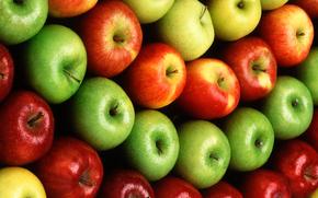 яблоки, фрукты, прилавок