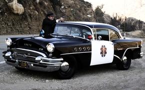 Buick, senchyuri, spets.versiya, police, peedok, muzhik, cop, hat, trunk, Other brands