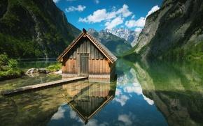 Alemania, agua, Montaas, Naturaleza