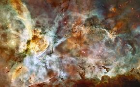 space, nebula, gas, Streams
