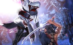 combattants, bataille, pe, katana, Ezio Auditore da Firenze