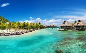 Bora Bora, mare, ricorrere, Hilton