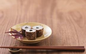 sushi, Sticks, food