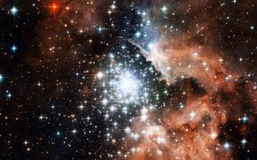 galaxy, Star, congestion, many