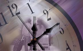 часы, стрелки, время