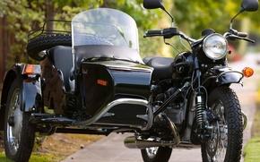 ural, esportazione, motocicletta, nero, auto, macchinario, Auto