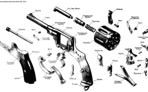 revolver, scheme, assembly