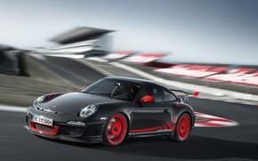 машина.черная, дорога, Porsche
