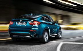 BMW, blu, strada, BMW