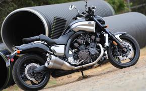 Yamaha, Bike, MOTSYK, moped, motouikl, Hero of asphalt, bike from the movie, power, power, moscha, Pipe, land, sand, exhaust pipe, Motorcycles