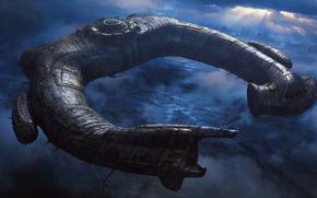 Prometheus, statek, obcy, podkowa, obcy