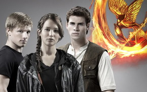 Hunger Games, Jennifer Lawrence, Josh Hutcherson, Liam Hemsworth