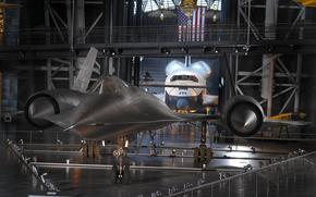 plane, exhibit, museum, Aeronautics, Shuttle