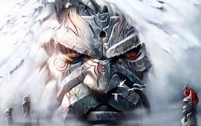 gigante, rock, Dragons